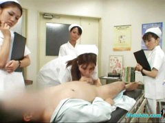 4 Nurses Giving Handjob And Oral job For Patient Cum To Throat In The Surgery