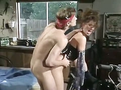 Sexy biker chick is fucked in a vintage xxx video