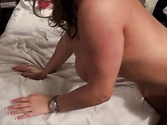 Sweet slut with rainbow socks acquires fuck by mature white dude.