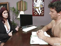 This hot brunette MILF cannot stop herself from reacting to the juvenile chap sitting across from him. therefore, that playgirl moves in for the kill and soon sufficiently that playgirl has him exactly where that playgirl wants. Unable to stop himself. Once that playgirl have her, he will do anything that that playgirl wants him to do and then some.