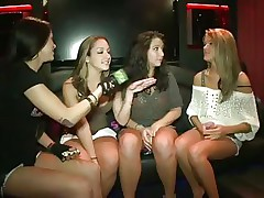 'Money Talks' brings u two hot honeys in a night club where they are 1st challenged to flash tits. Later they dare to get topless and they did it!. They even suck every others nipples. The host with the mic also got topless with them! And they are all cheering, smiling and dancing wildly!