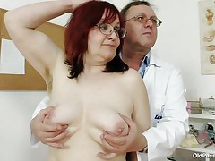 Brunette mature lady is lying on the gynecologist's table and the doctor is examining her pussy. This man is wearing gloves and fingering her cookie right after that man examines her nice miniature tits. This man is inserting a thin medical tool in her constricted ass. You really needs to see where the doctor ends up.