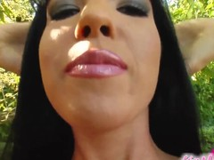 Jane is back to widen her pink vagina on camera. This Playgirl gives us a great close up of her giant fur pie lips and then starts to masturbate with a giant toy.