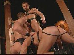 Homo leather studs having intense sex
