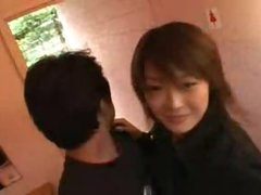 Getting frisky with sexy Japanese chick