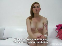 Czech Casting babe Veronika teasing for the camera