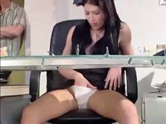 The 1st customer this day with get a sleazy surprise from the receptionist