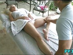 Slutty playgirl massaged & pounded