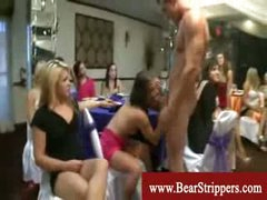 CFNM stripper raunch fest with horny ladies