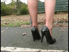 Debbie dresses to make your foot fetish juices run wild